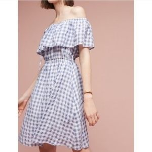 NWOT Tylho Gingham Off Shoulder Dress